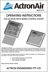 Actron Air Operating Instructions